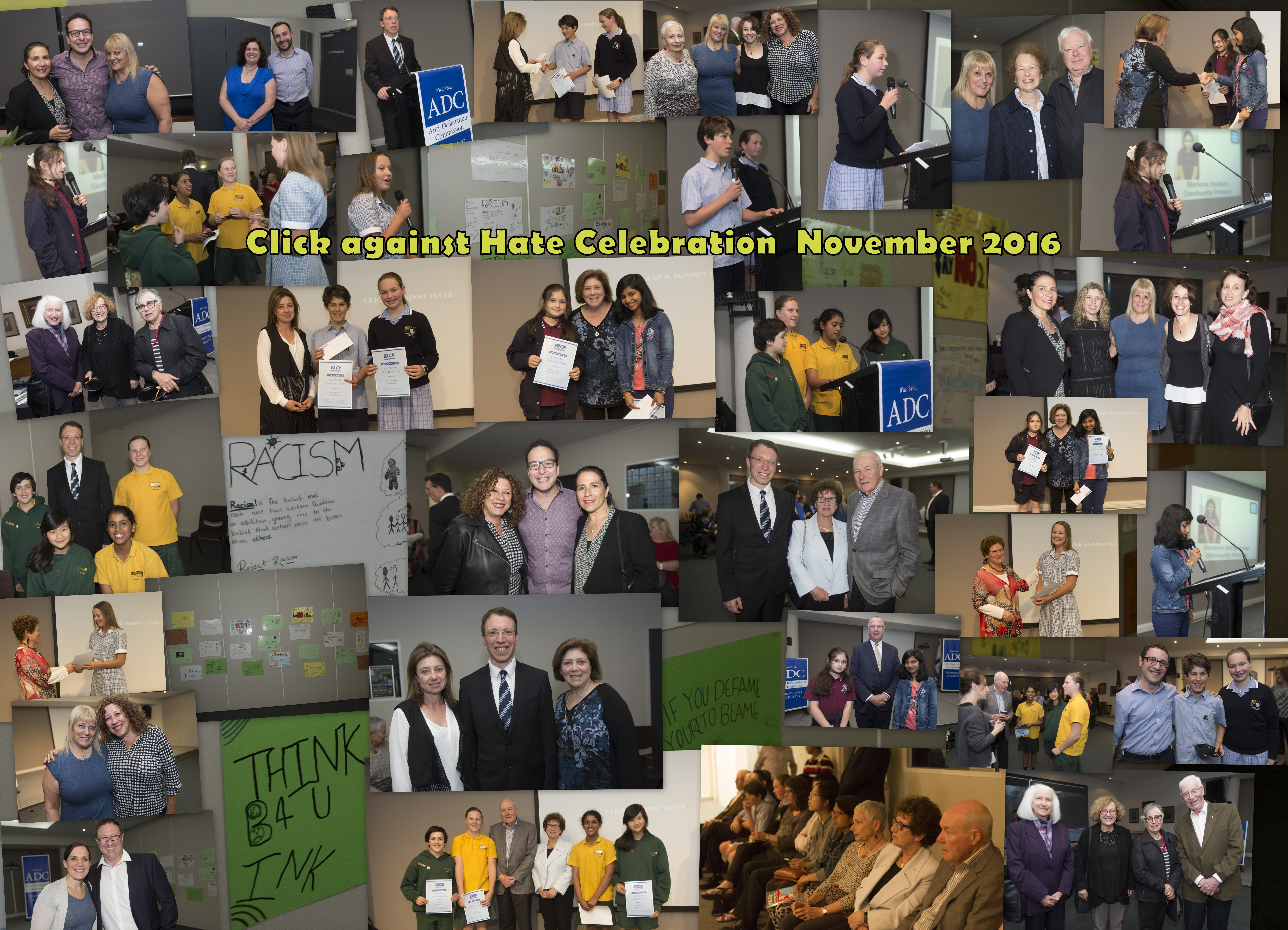 Click against Hate celebration Collage